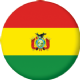 Bolivia Country Flag 25mm Keyring